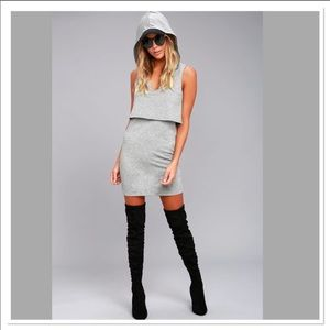 Lulu's Gray Hoodie Dress